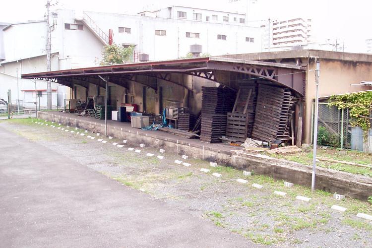旧淀川貨物駅ホーム跡