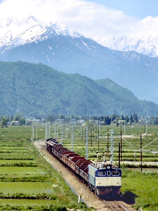 ED60牽引大糸線貨物列車
